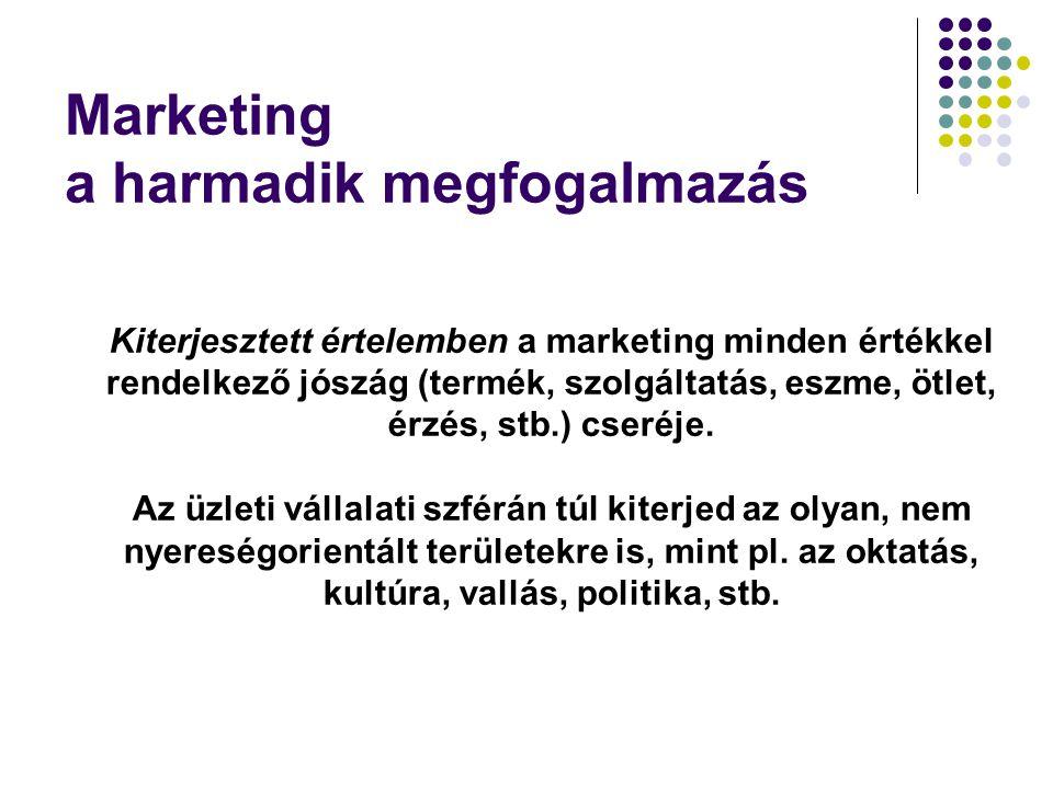 Marketing a harmadik megfogalmazás