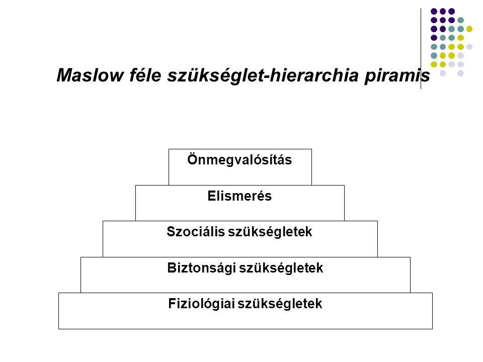 Maslow féle szükséglet-hierarchia piramis