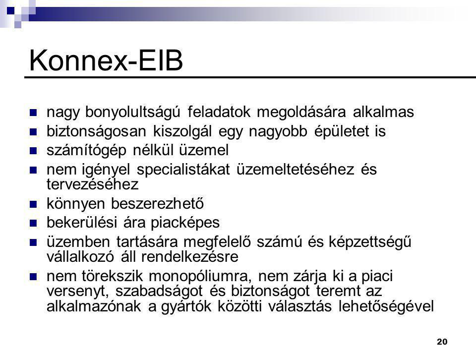 Konnex-EIB nagy bonyolultságú feladatok megoldására alkalmas