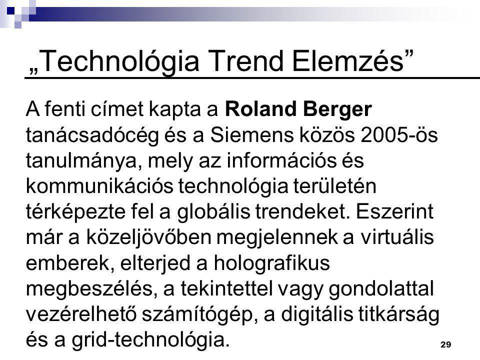 """""""Technológia Trend Elemzés"""