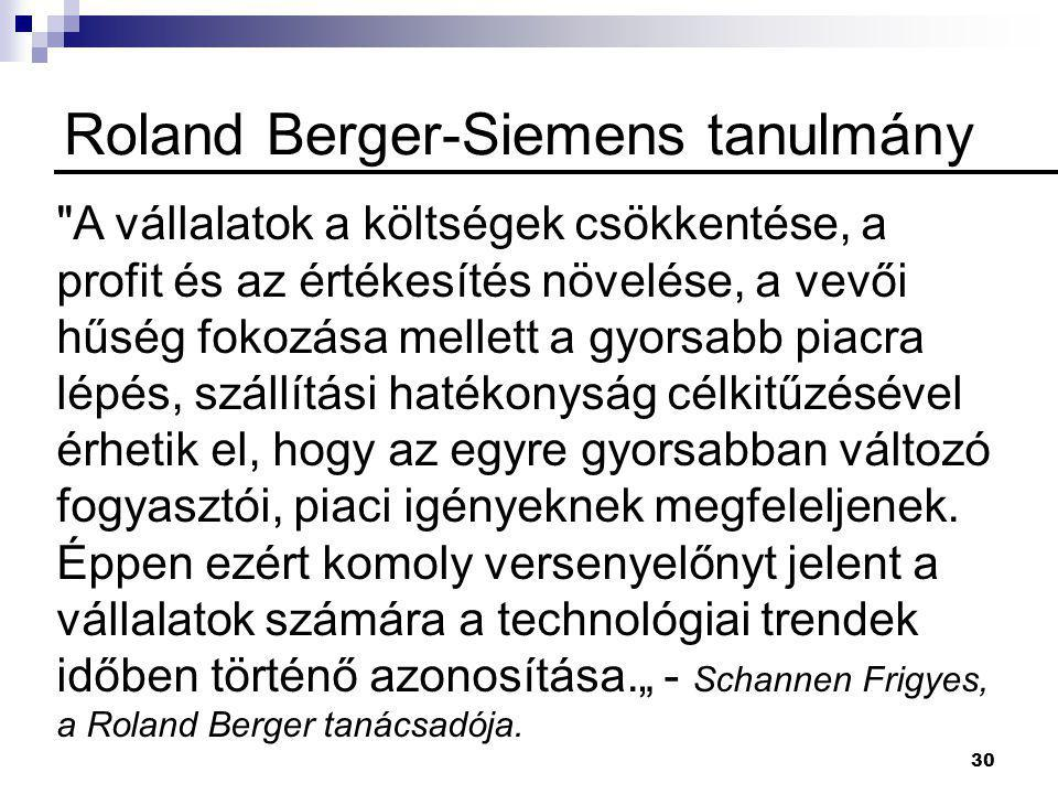 Roland Berger-Siemens tanulmány
