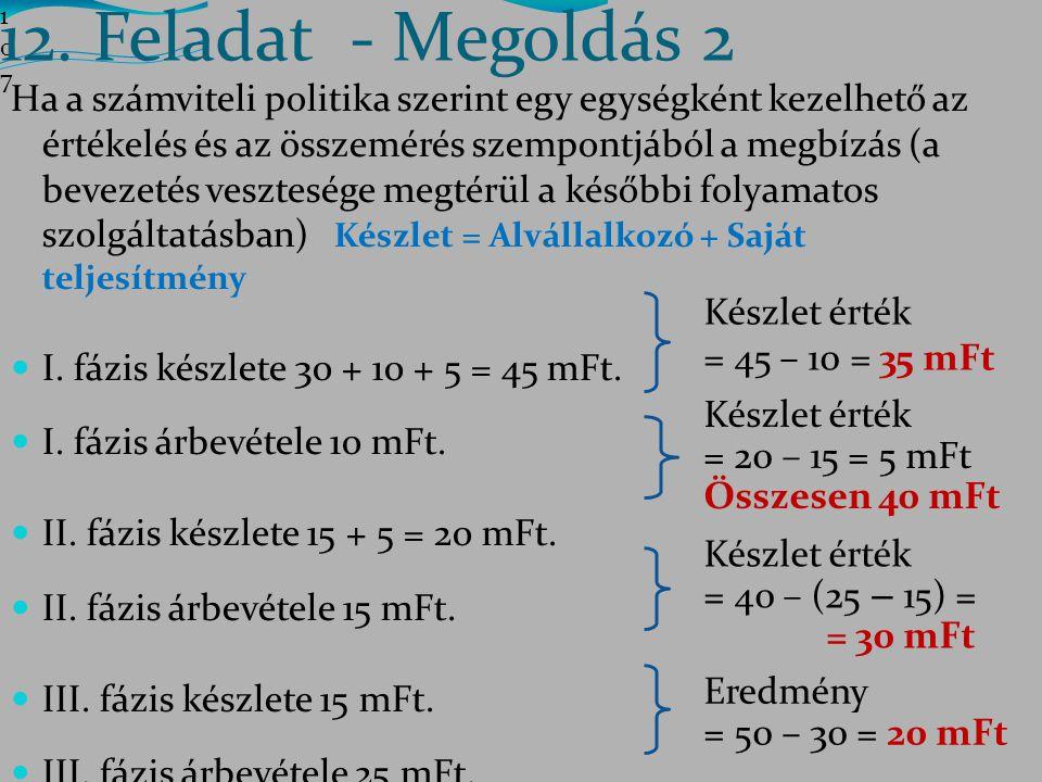 12. Feladat - Megoldás 2 107107107.