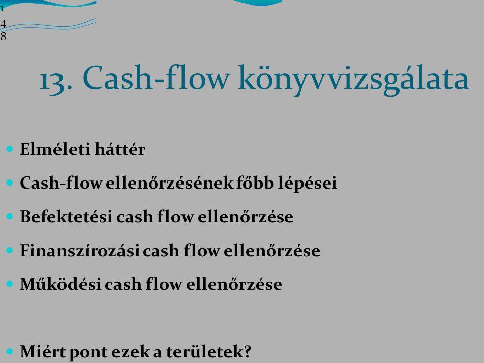 13. Cash-flow könyvvizsgálata