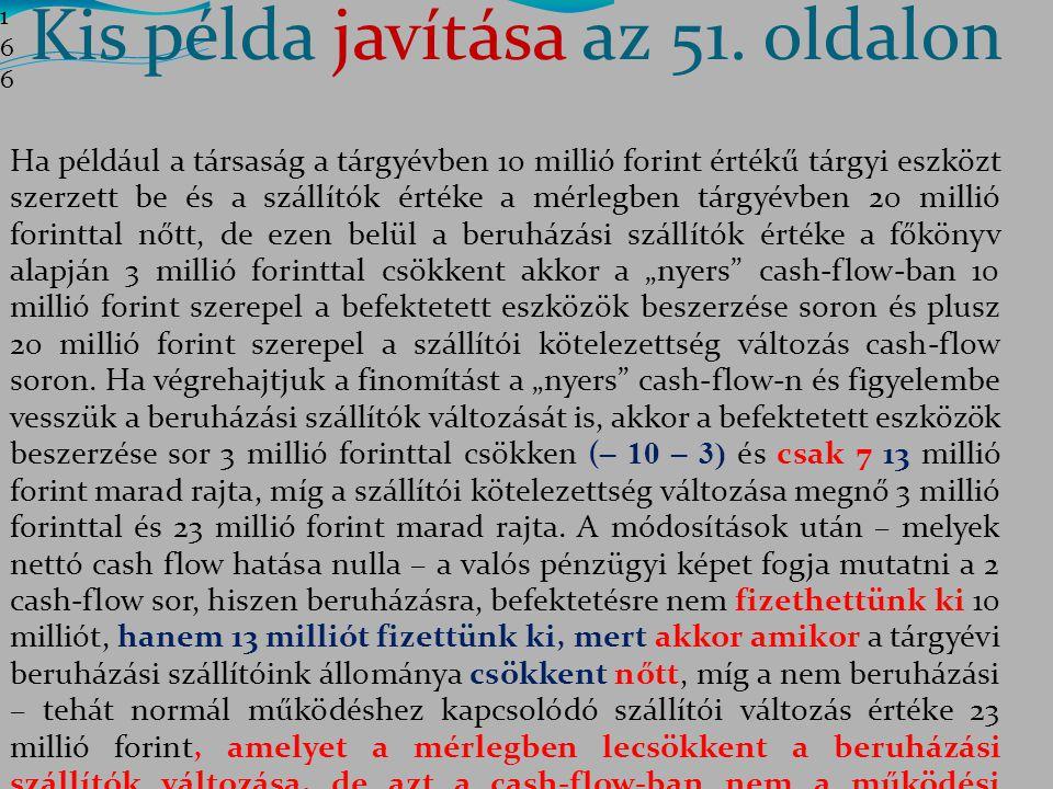 Kis példa javítása az 51. oldalon