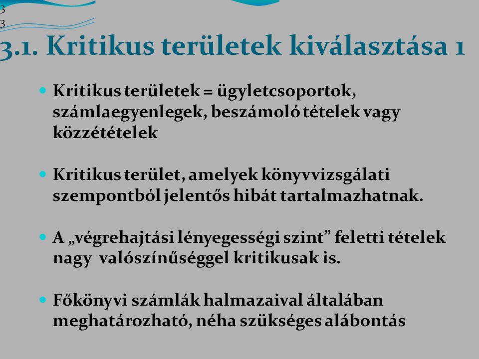 3.1. Kritikus területek kiválasztása 1