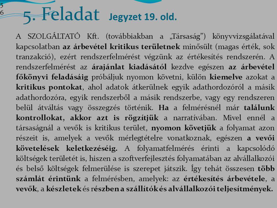 5. Feladat Jegyzet 19. old. 5656.