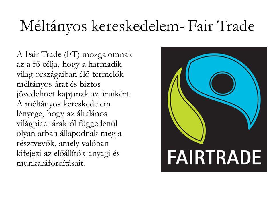 Méltányos kereskedelem- Fair Trade