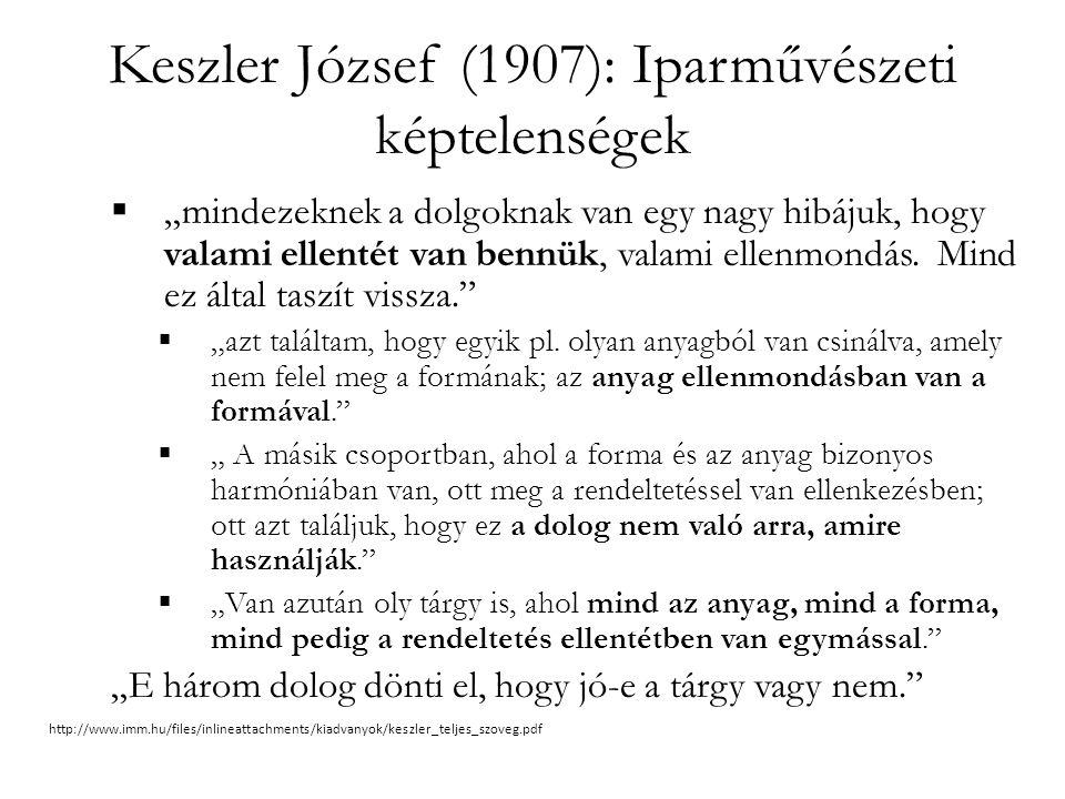 Keszler József (1907): Iparművészeti képtelenségek