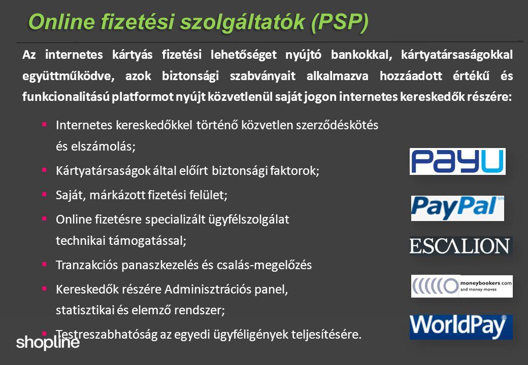 Online fizetési szolgáltatók (PSP)