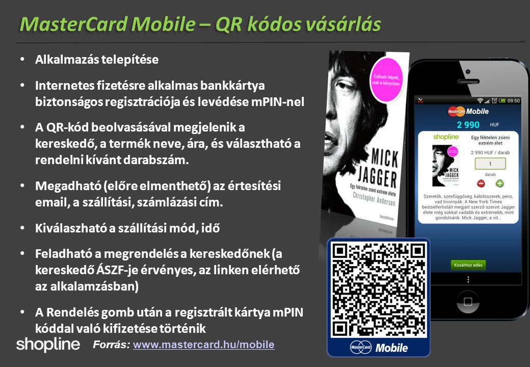 MasterCard Mobile – QR kódos vásárlás