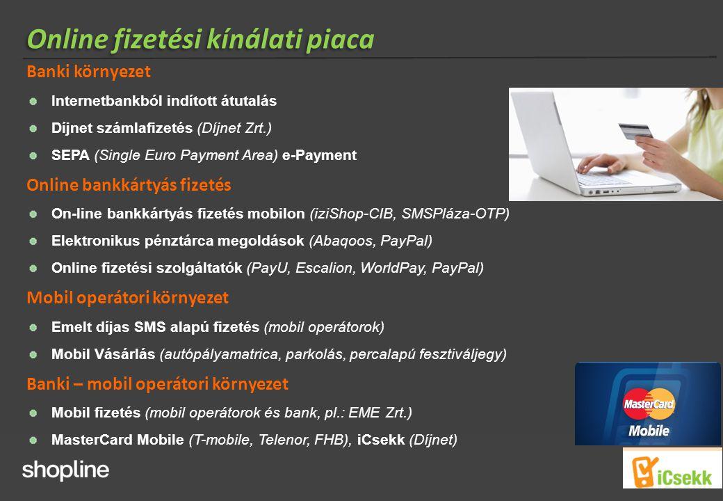 Online fizetési kínálati piaca