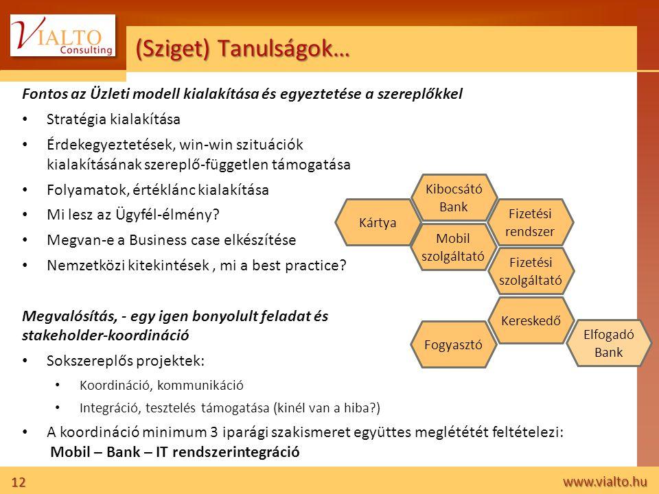 (Sziget) Tanulságok… Fontos az Üzleti modell kialakítása és egyeztetése a szereplőkkel. Stratégia kialakítása.