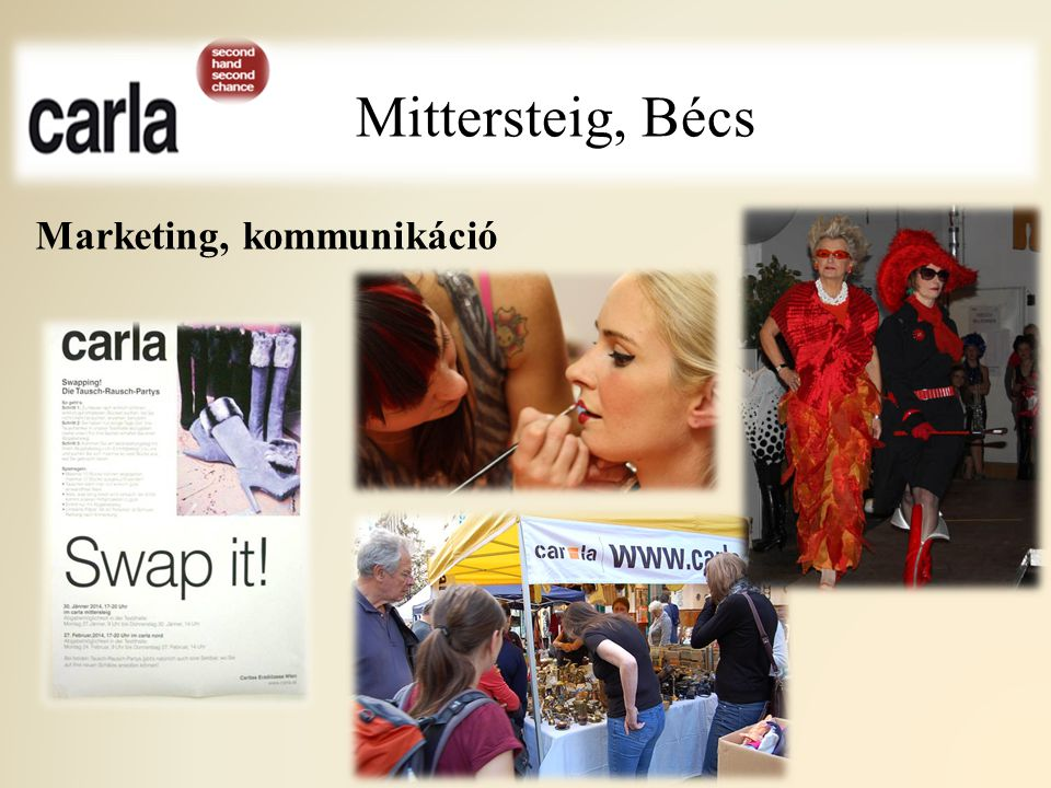 Mittersteig, Bécs Marketing, kommunikáció