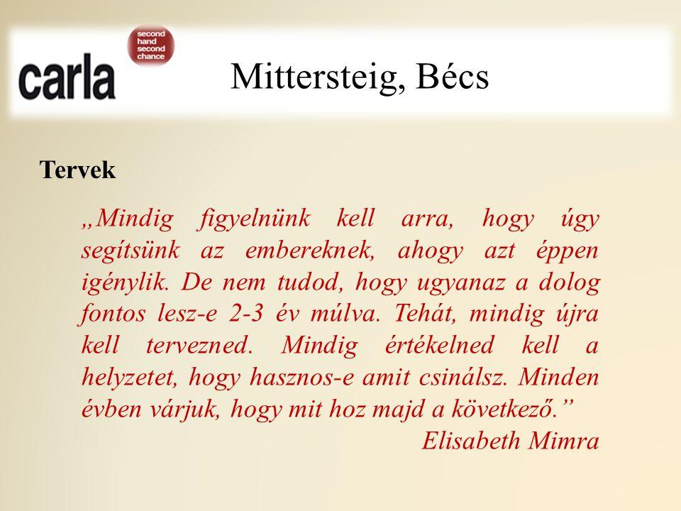 Mittersteig, Bécs Tervek