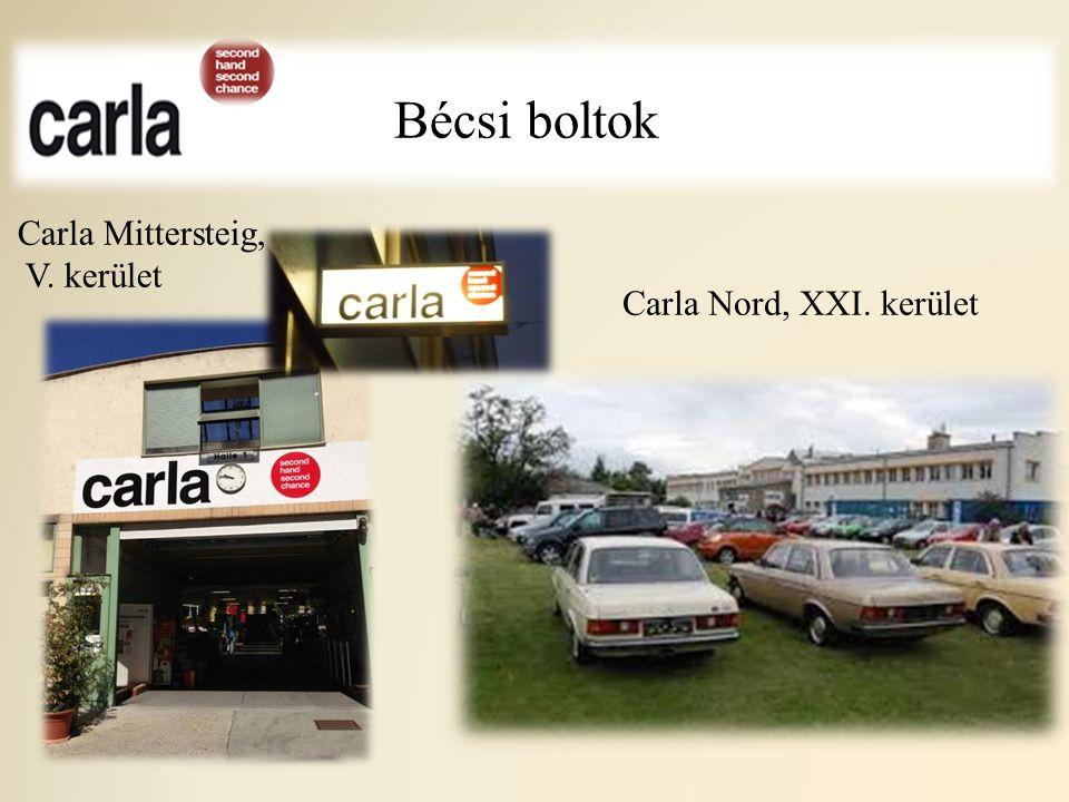 Bécsi boltok Carla Mittersteig, V. kerület Carla Nord, XXI. kerület
