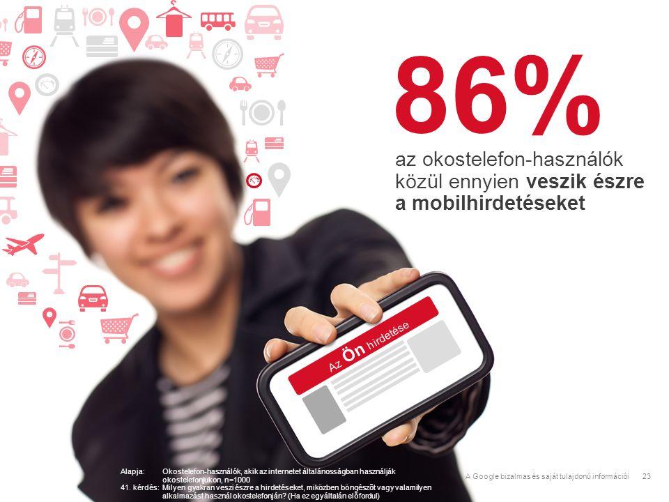 86% az okostelefon-használók közül ennyien veszik észre a mobilhirdetéseket. Az Ön hirdetése.
