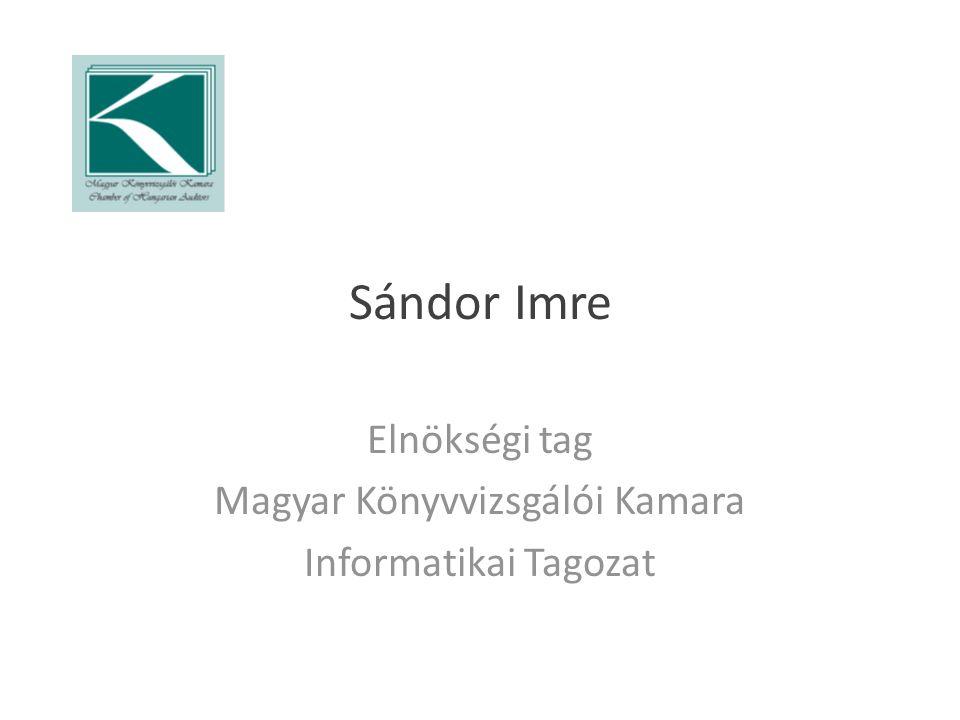 Elnökségi tag Magyar Könyvvizsgálói Kamara Informatikai Tagozat