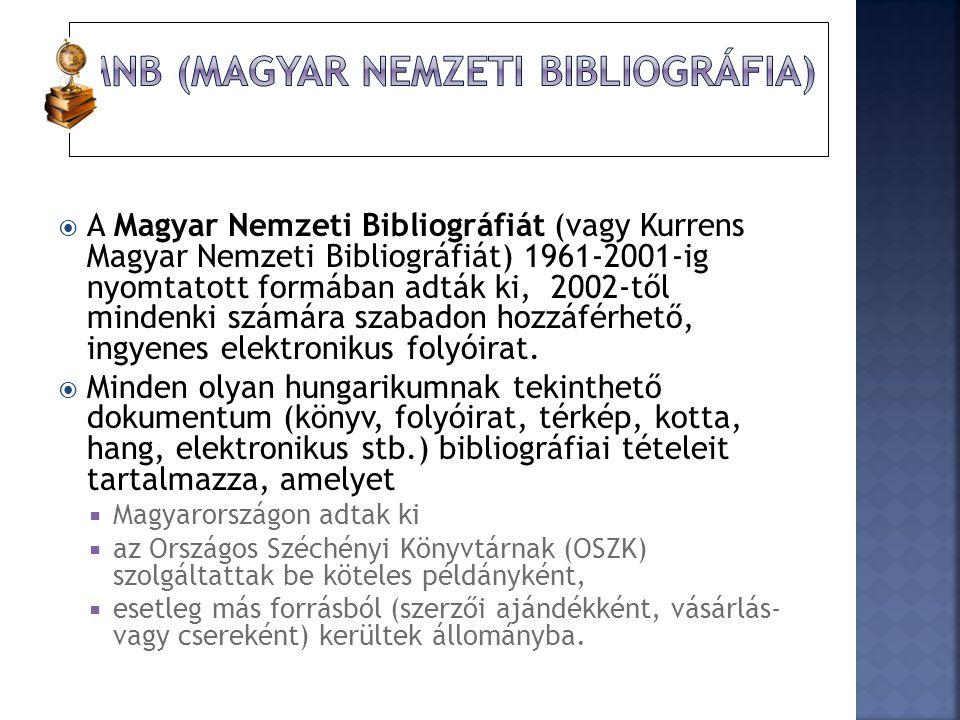 MNB (Magyar Nemzeti Bibliográfia)