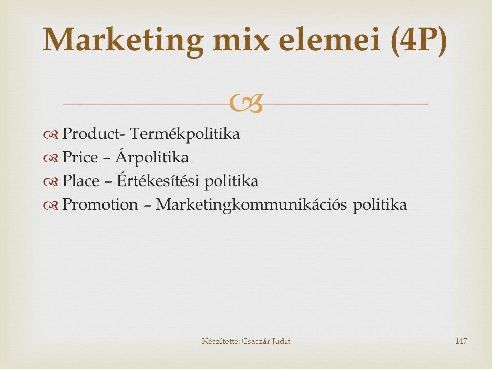 Marketing mix elemei (4P)