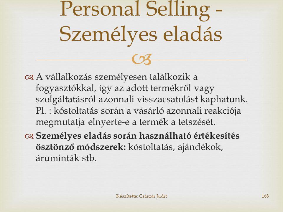 Personal Selling - Személyes eladás