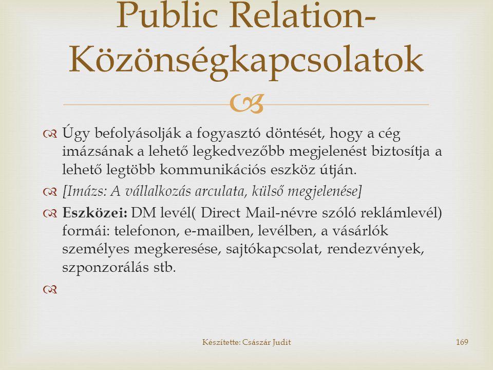 Public Relation-Közönségkapcsolatok