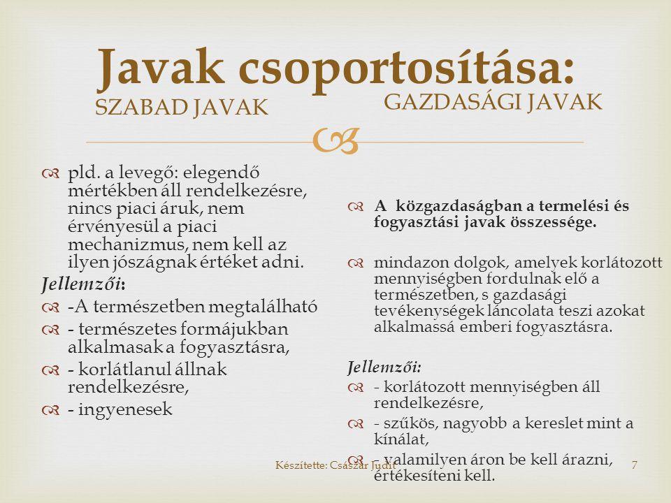 Javak csoportosítása: