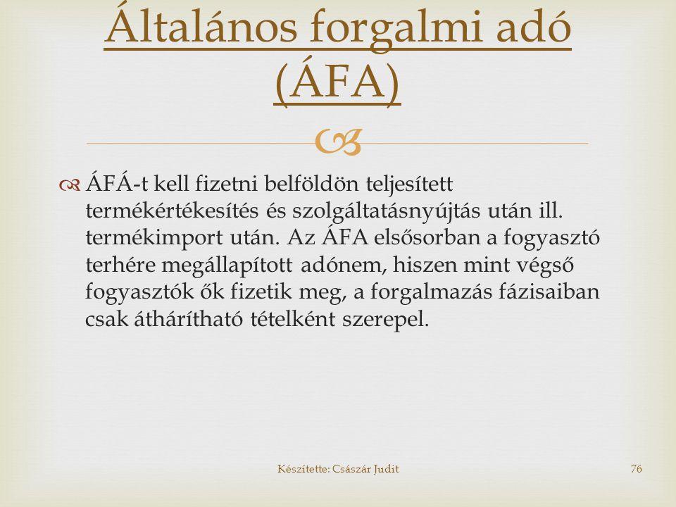 Általános forgalmi adó (ÁFA)