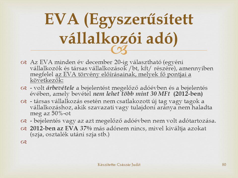 EVA (Egyszerűsített vállalkozói adó)