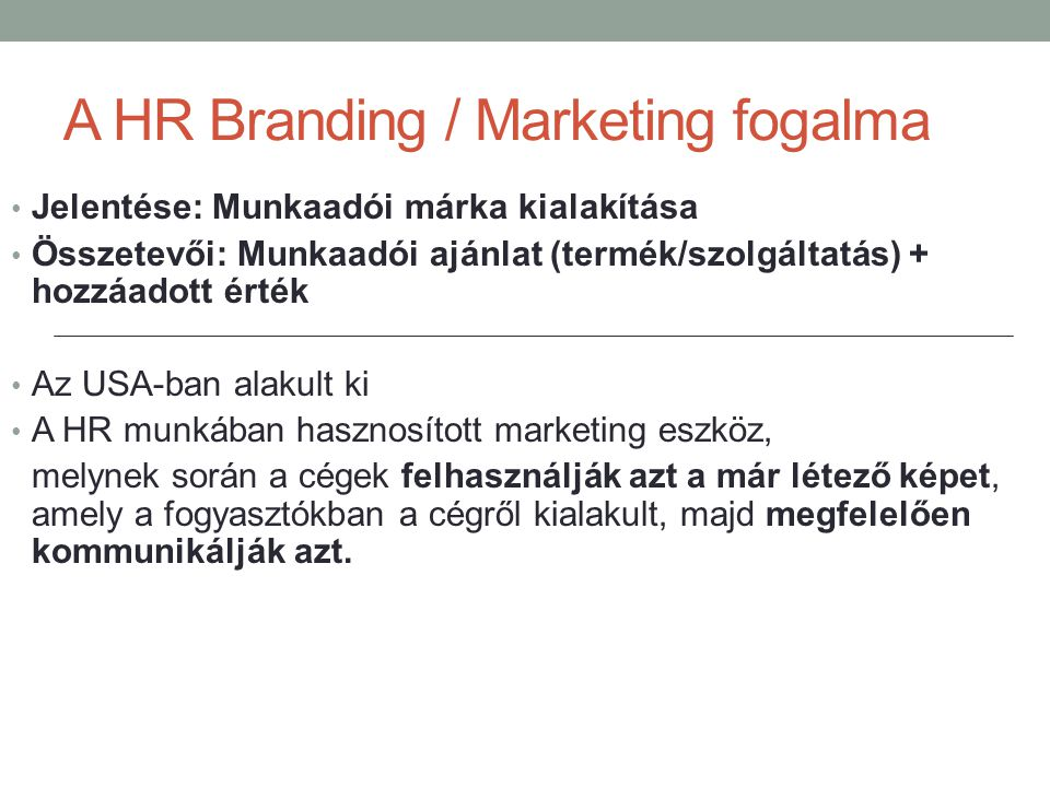 A HR Branding / Marketing fogalma