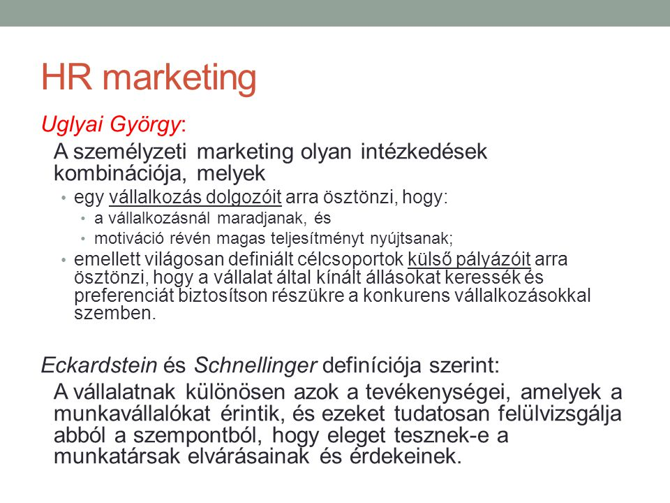 HR marketing Uglyai György: