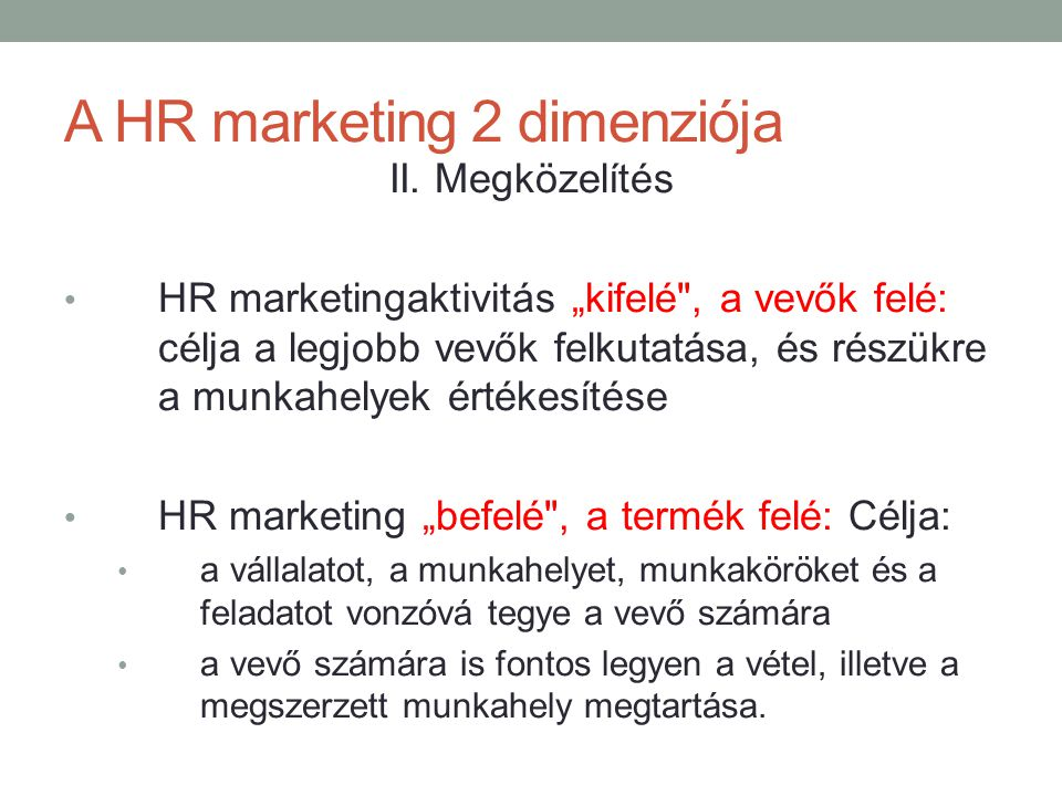 A HR marketing 2 dimenziója