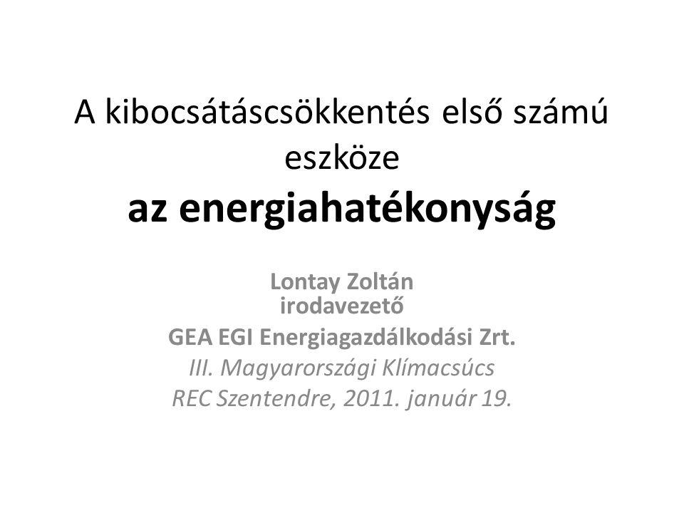 A kibocsátáscsökkentés első számú eszköze az energiahatékonyság