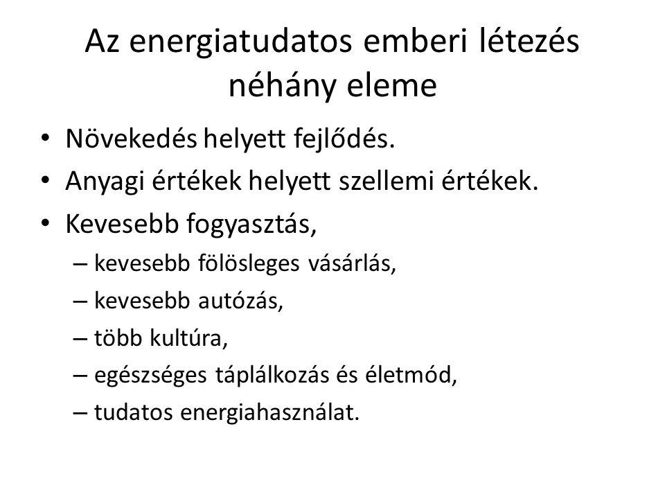 Az energiatudatos emberi létezés néhány eleme