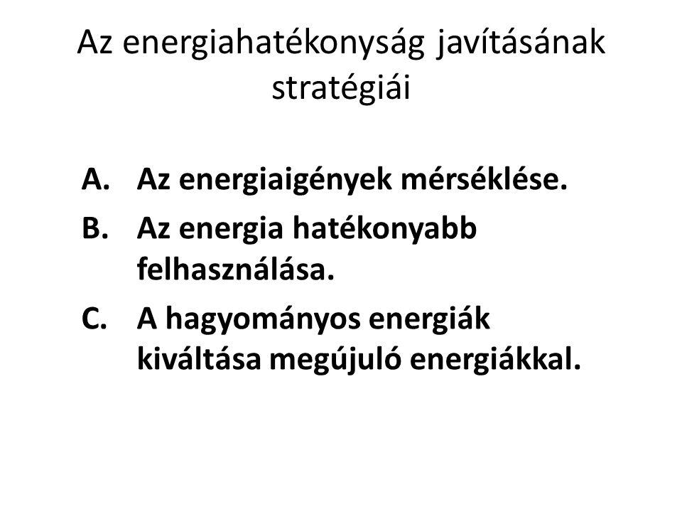 Az energiahatékonyság javításának stratégiái