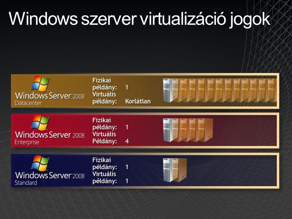 Windows szerver virtualizáció jogok