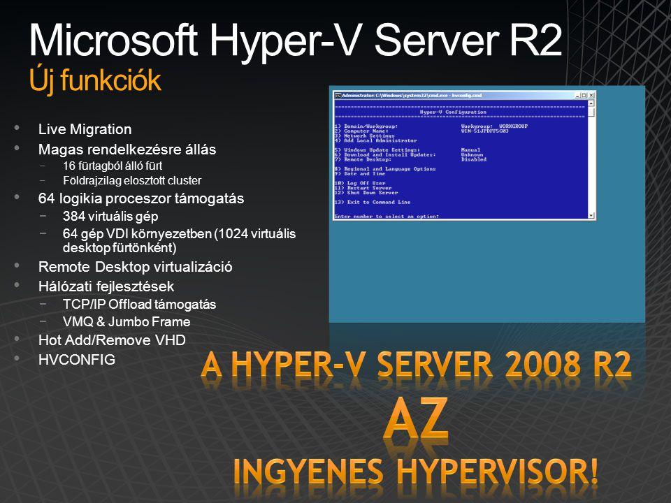 Microsoft Hyper-V Server R2 Új funkciók