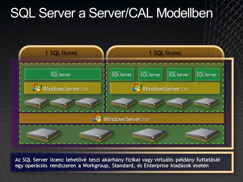 SQL Server a Server/CAL Modellben