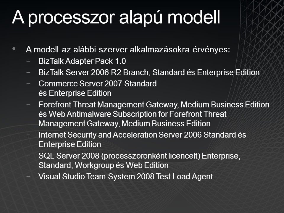 A processzor alapú modell
