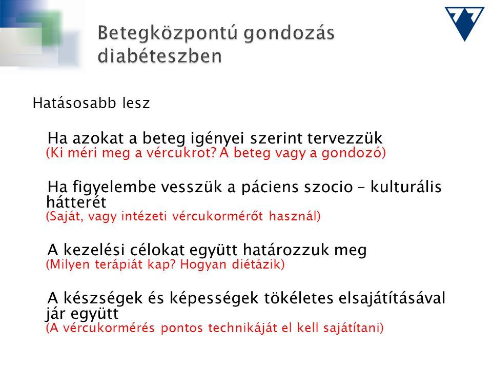 Betegközpontú gondozás diabéteszben