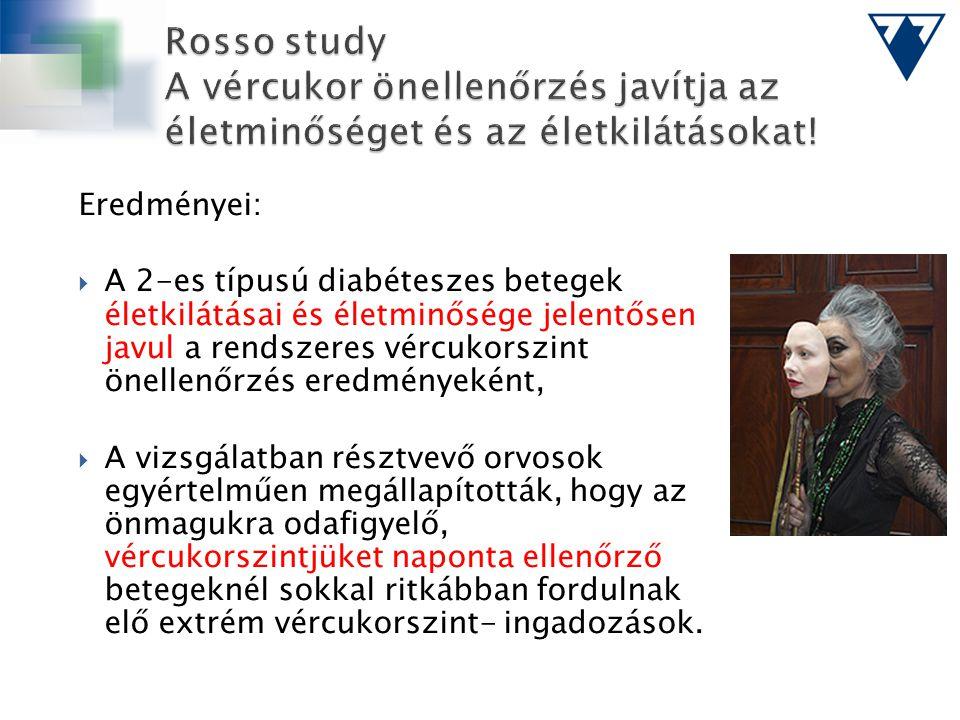 Rosso study A vércukor önellenőrzés javítja az életminőséget és az életkilátásokat!