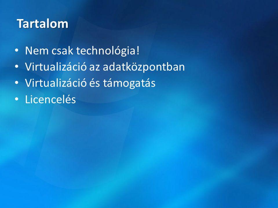 Tartalom Nem csak technológia! Virtualizáció az adatközpontban