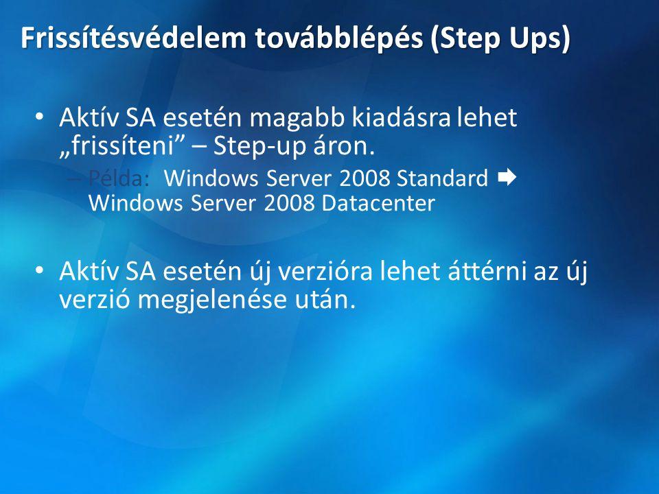 Frissítésvédelem továbblépés (Step Ups)