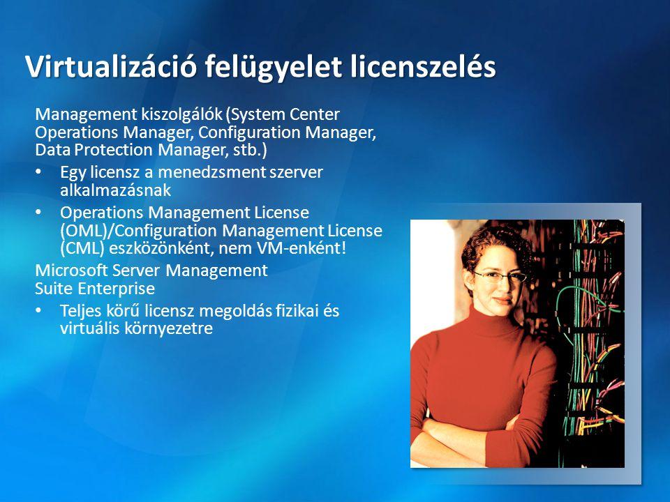 Virtualizáció felügyelet licenszelés