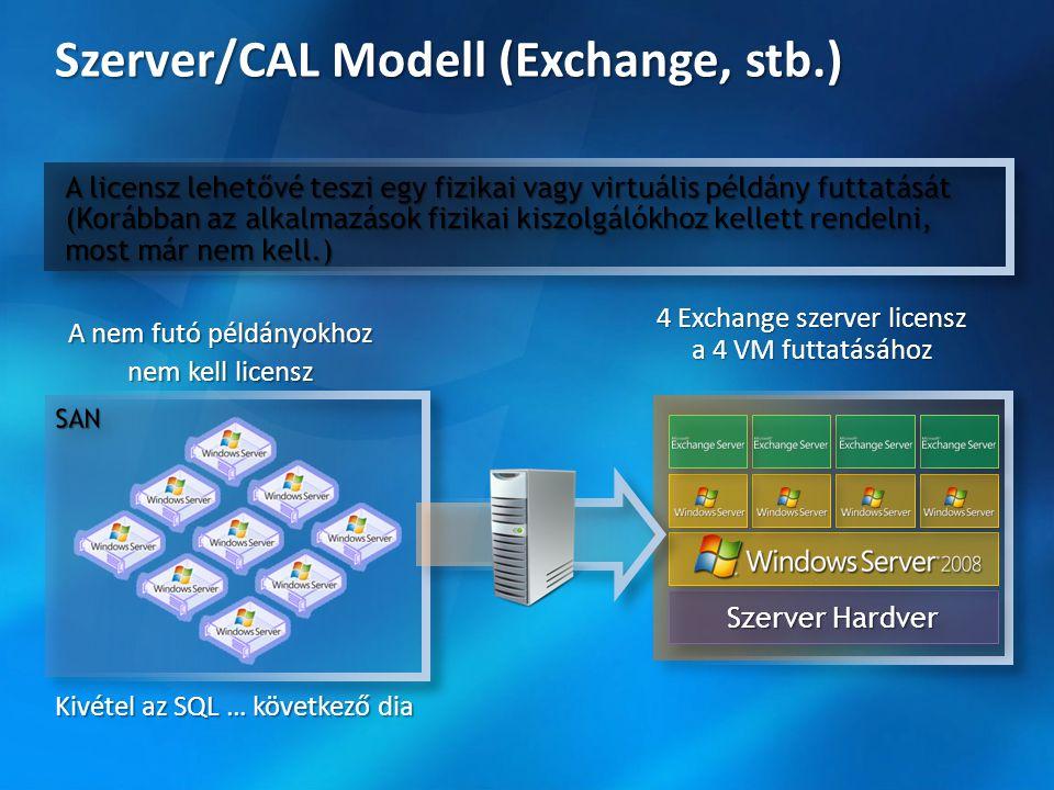 Szerver/CAL Modell (Exchange, stb.)
