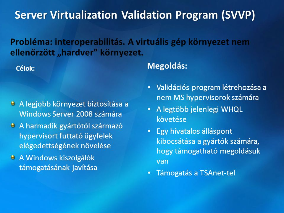 Server Virtualization Validation Program (SVVP)