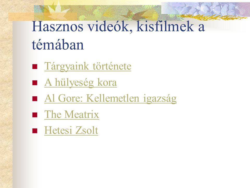Hasznos videók, kisfilmek a témában