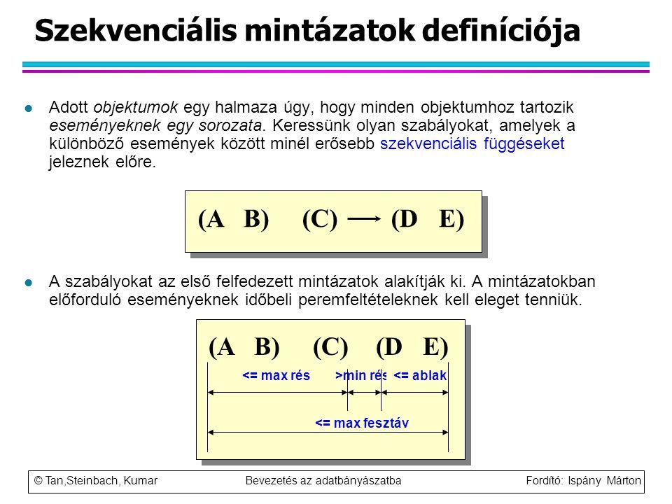 Szekvenciális mintázatok definíciója