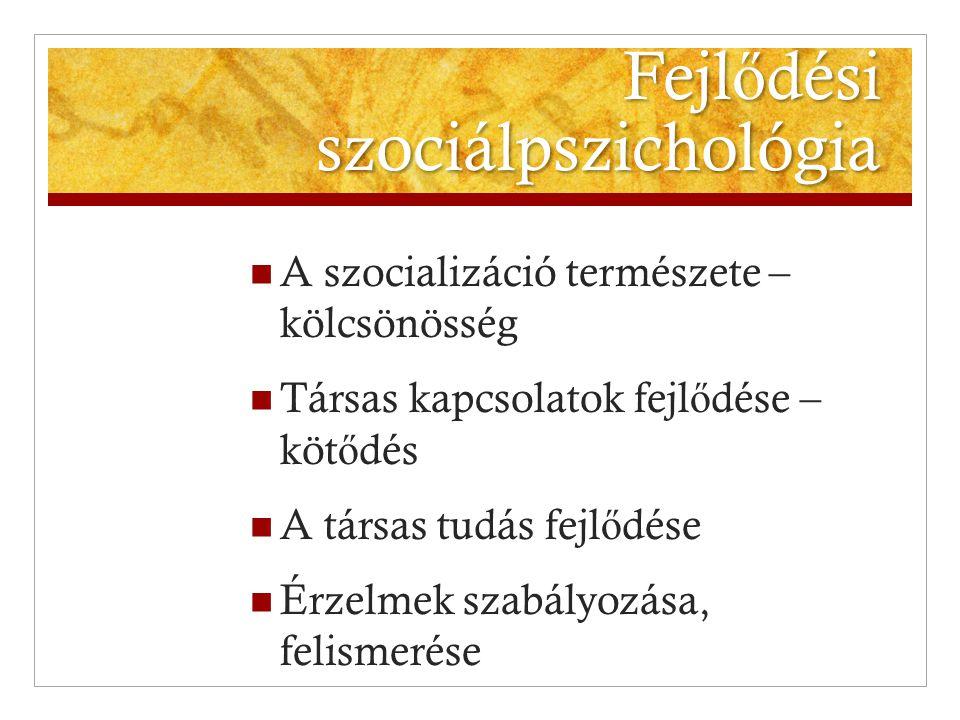 Fejlődési szociálpszichológia