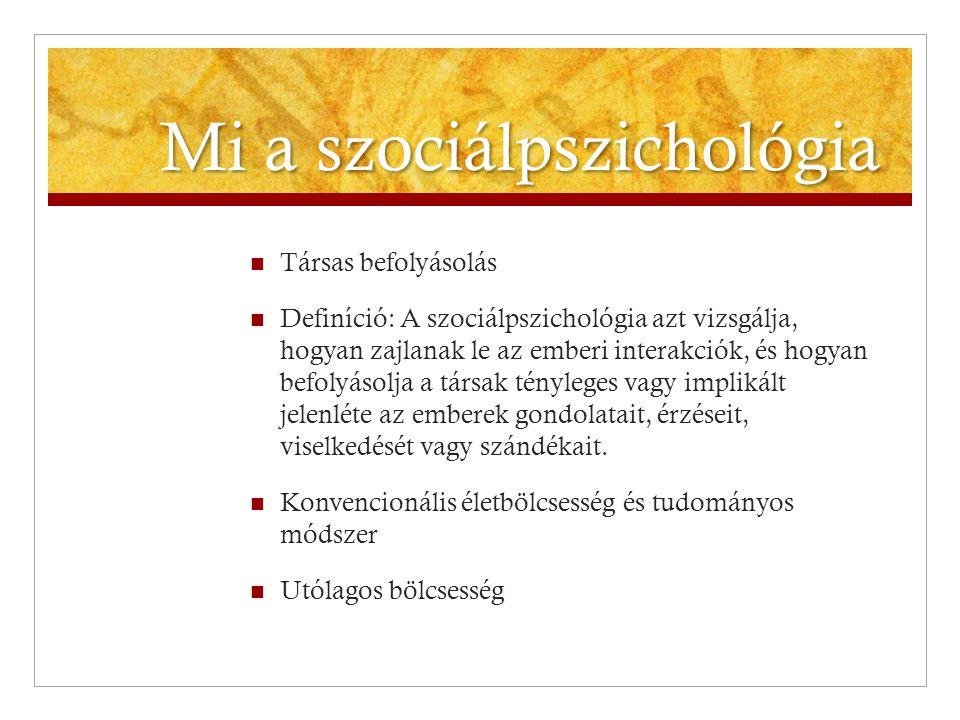 Mi a szociálpszichológia
