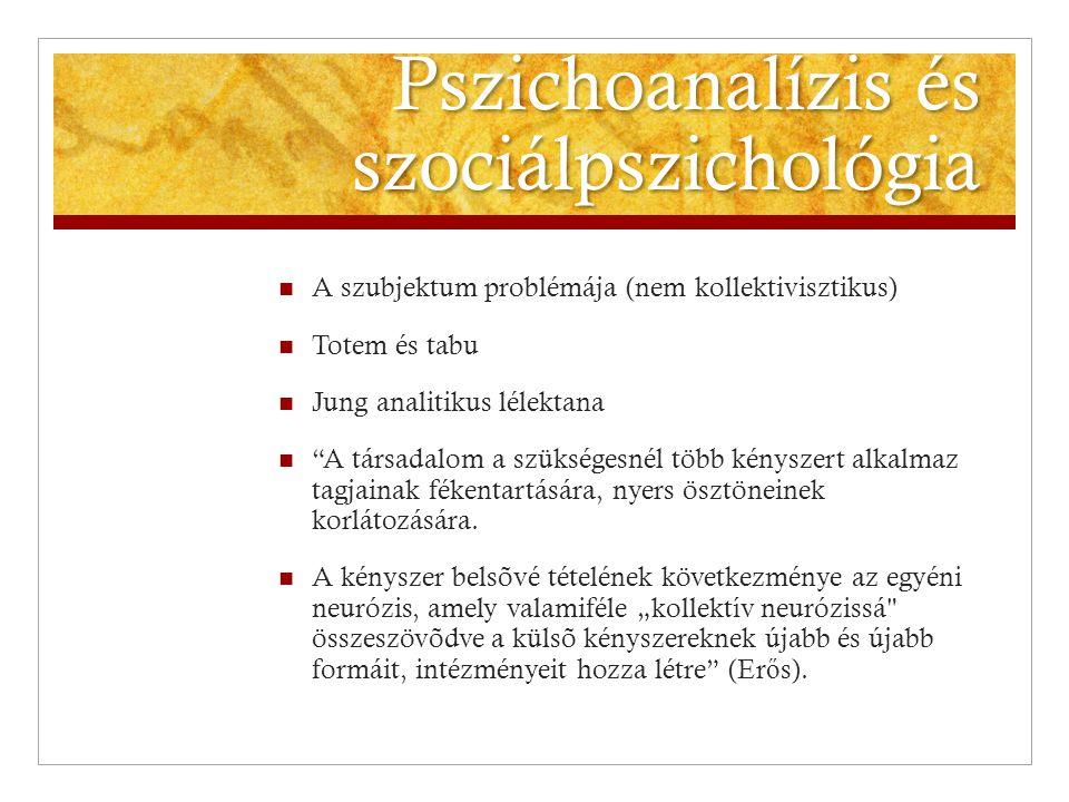 Pszichoanalízis és szociálpszichológia